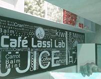 cafe lassi lab wall design