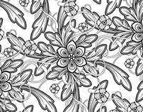Pattern Design for an Adult Coloring Book