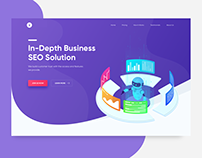 Concept Hero Page for Digital Marketing Agency