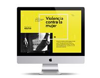 Website sobre la violencia contra las mujeres