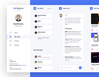 Dashboard Resume concept