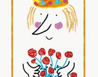 """Crown"" illustration for Illustration Friday"