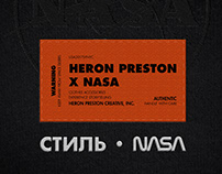 HERON PRESTON X NASA   UI/UX App & Flagship Store