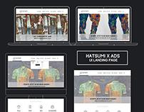 Hatsumi x ADS // UI Landing Page