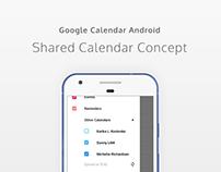 Google Calendar: Shared Calendar UI&UX Concept