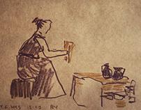 Reportage sketching for Transkaukazja festival