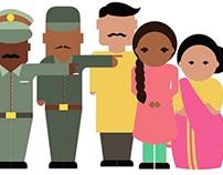Character Design for Awareness Video: HerMovement.org