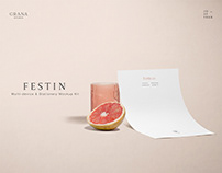 FESTIN Branding Stationery Mockup