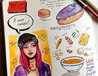 Sketchbook Pages Pt. 1 - Food Illustrations