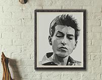 Bob Dylan Low Poly
