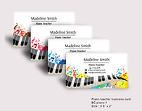 Work for sale - piano business card template