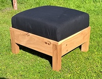 Contemporary Pippy Oak Footstools with Drop In seat