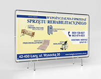 Banner design for a rehabilitation equipment rental