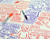 Graphic Recording: Life Changes Trust #ChampsBoards
