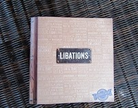 Fuddruckers Libations Typography Bar Menu