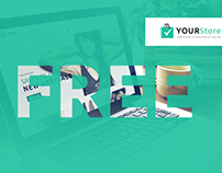 YourStore Shopify Website  Theme. Freebie PSD.