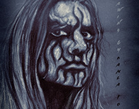 Black Metal_Pastel drawing by Damla Topcu