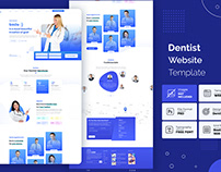Dentist appointment landing page template