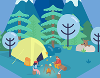 Animated Campfire with Code | SVG Animation
