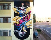 Gods in Love - Il viaggio di Dedalo - Wall in Rome