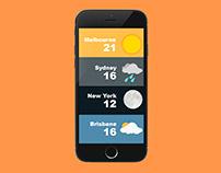 Weather App Ui Design + MockUp
