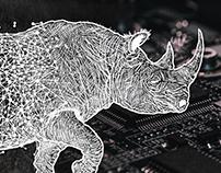 TUSK Rhino Illustration