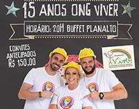 Campanha 15 anos ONG VIVER