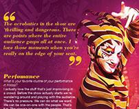 Cirque Du Soleil: Kooza Magazine Spread Redesign