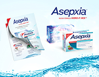 Asepxia Evolución Diseño Empaque y Flyer | Genomma Lap