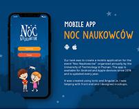 """Mobile App """"Noc Naukowcow"""""""