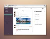 Recreate the Slack app user interface