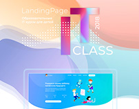 Landing page for IT kids education
