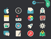 Flat iCons Applications 2016