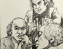 INKTOBER 2016 -  SKETCHING THE CHESS GREATS