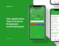 SideJobs - mobile application design