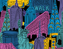 New York fabric design
