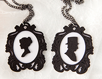 Paper Cameo Necklaces