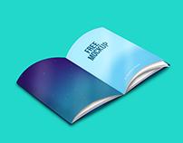 Free Mockup PSD - Magazine / Book