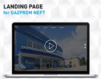 Landing Page for Gazprom Neft