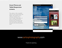 Carlos Photography's website improvement & new logo