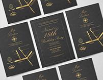 Elegant Gold Invitation Card