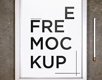 Free Mockup White Frame