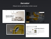 Inventor - Interior and Furniture Website Concept