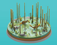 Suchomimus diorama