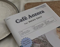 Cafe Aozora The Menu Edit 天空藍咖啡杂志系菜单