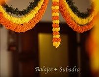 Balajee + Subadra