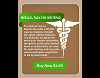 Medical dictionary in-app purchase for WritePad on iOS