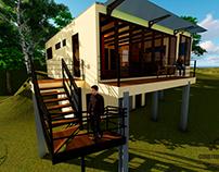Propuesta diseño de residencia en Boquerón.