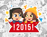 CHRISTMAS TIME. Vkontakte stickers set – 2015