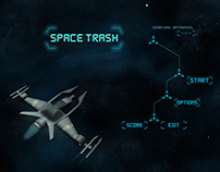 GUI // Space Trash // 2D Shoot 'em up